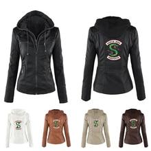 Riverdale Southside Serpents black Brown PU Leather Jacket Women Streetwear Brand Coat