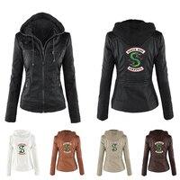 Riverdale Southside Riverdale Serpents black Brown PU Leather Jacket Women Riverdale Serpents Streetwear Leather Brand Coat
