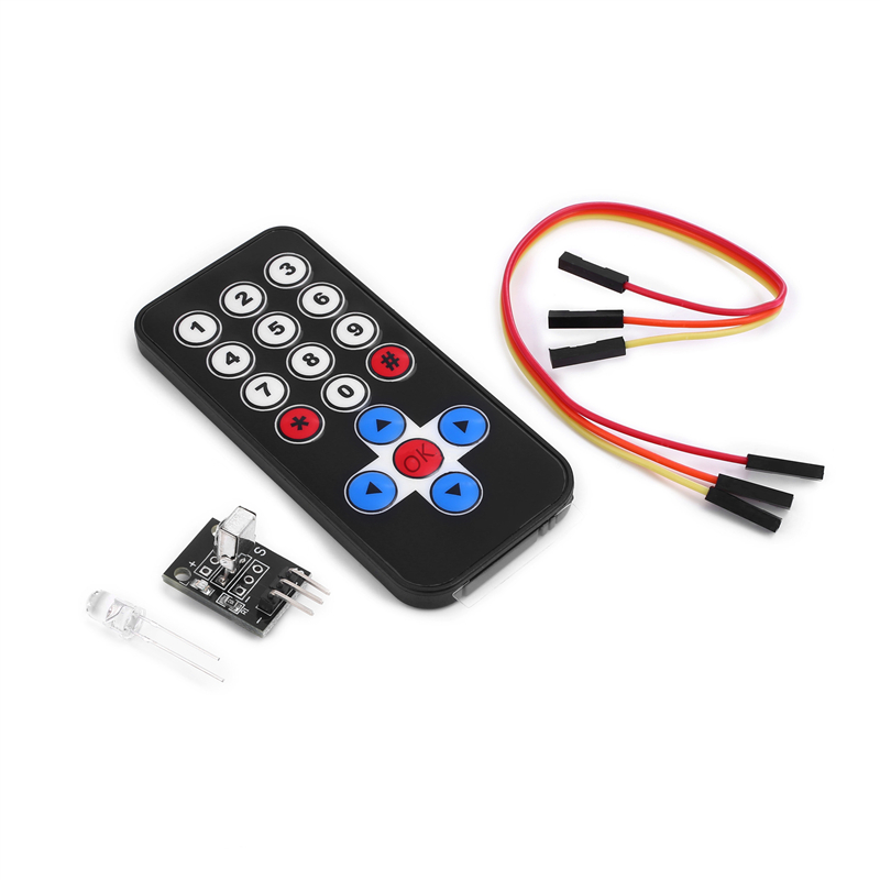 1set Infrared IR Wireless Remote Control Module Kits DIY Kit HX1838 For Arduino Raspberry Pi (Remote Control + Receiver Board)