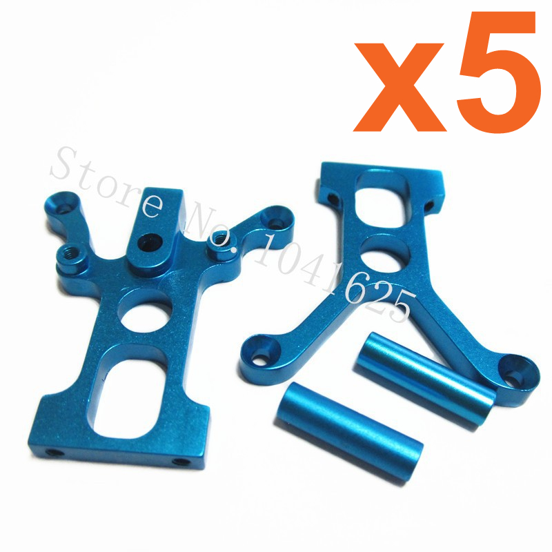 Wholesale 5Sets/Lot HSP Upgrade parts 122025 Aluminum Centre Diff Mount With Post For 1/10 RC 4WD Car CNC 94122 XSTR POWER 82910 ricambi x hsp 1 16 282072 alum body post hold himoto 1 16 scale models upgrade parts rc remote control car accessories
