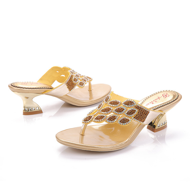 Popular Gold Thong Sandals-Buy Cheap Gold Thong Sandals Lots From China Gold Thong -9760