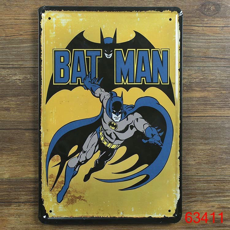 batmanvintage metal signs crafts decorative wall painting movie poster metal tin signs vintage home decoration custom neon sign - Metal Signs Home Decor
