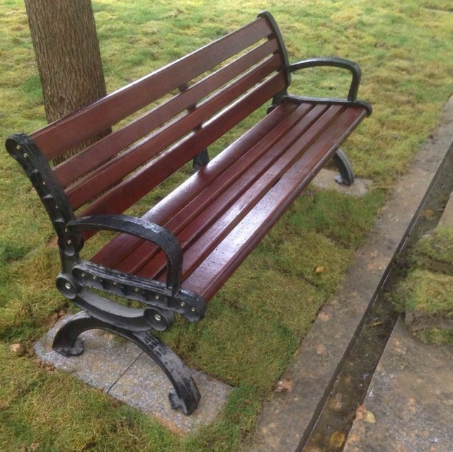 Jardín de hierro fundido banco de parque silla conservante de la ...