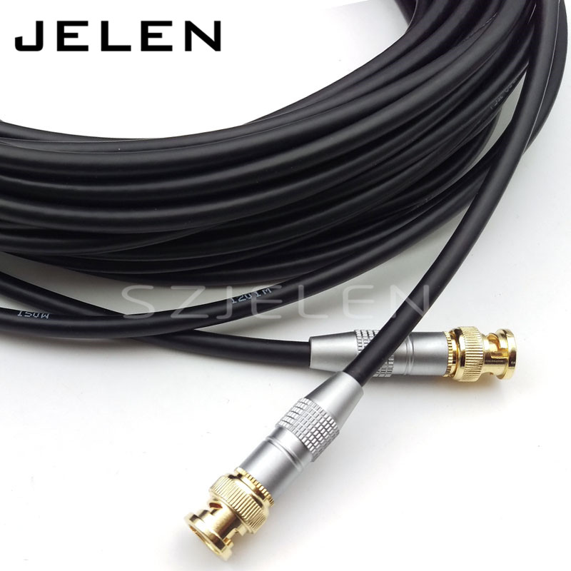 BNC TO BNC Camera video extension cable, SDI pigtail. Camera RF coaxial cable, Cable length 20M,Canare soft video coaxial LV-61S bnc plug to bnc plugs elbow sdi pigtail camera rf coaxial cable cable length 50cm