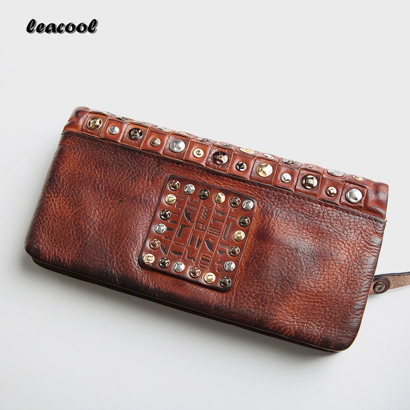 New 2017 LEACOOL Brand Dollar Price Leather Purse For Women Wallet Fashion Diamante Hasp Ladies Long Clutch Wallet For Men dollar price new european and american ultra thin leather purse large zip clutch oil wax leather wallet portefeuille femme cuir
