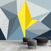 Tùy chỉnh Cải Thiện Nhà 3d Wall Paper Rolls Ảnh Hình Nền cho Bức Tường 3D Stereoscopic Đồ Họa Hiện Đại Hình Học Đơn Giản Hình Nền