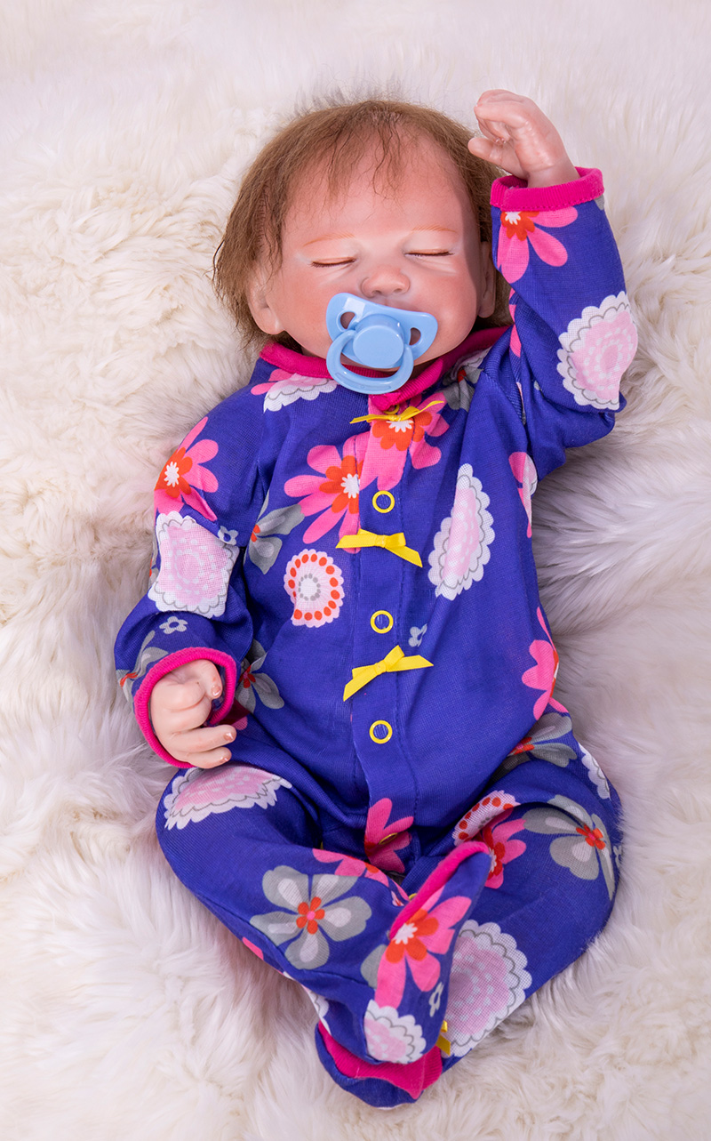 2018 new Design Bebe 48cm Silicone Reborn Baby girl Doll Toys Lifelike Baby-Reborn Doll Kids Child Birthday gift bonecas reborn2018 new Design Bebe 48cm Silicone Reborn Baby girl Doll Toys Lifelike Baby-Reborn Doll Kids Child Birthday gift bonecas reborn