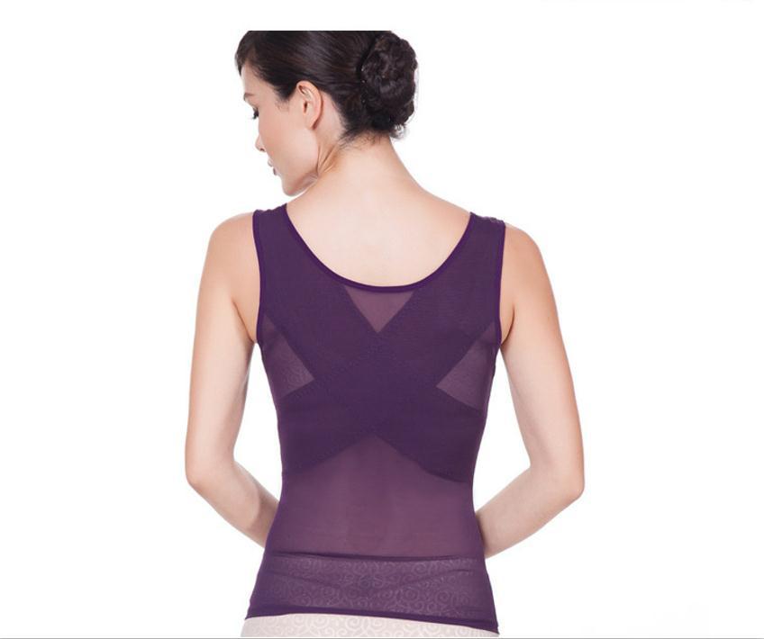 Sculpting Vest Women abdomen Body Corset Net Yarn Skinny Slimming Strimmer Cross Belly Fat Contro Body Shaper Femal Underwear (17)