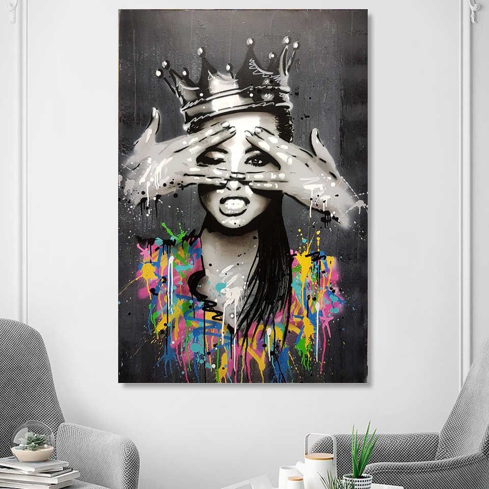 Portrait Picture Canvas Painting Figure Wall Art Graffiti Home Decor Abstract Women Pictures Bansky art Pop Posters and Prints