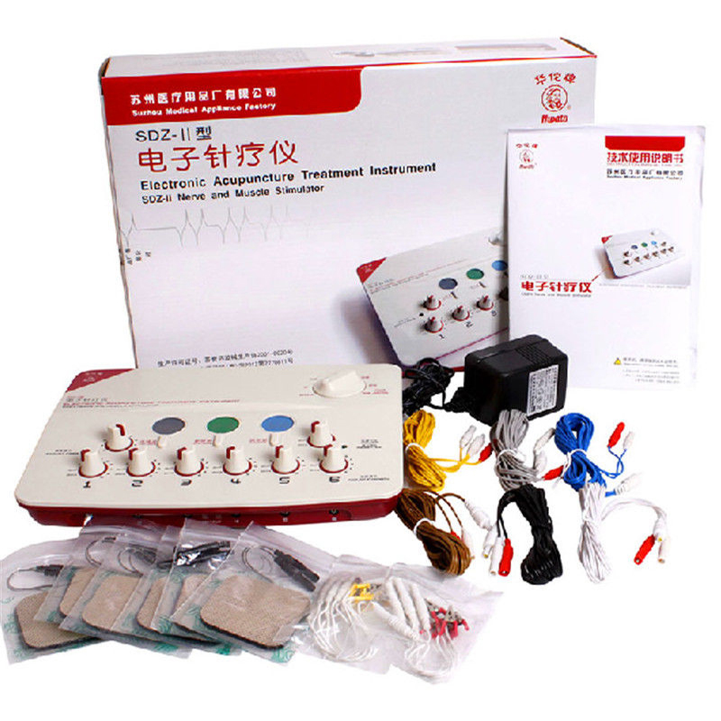 Hwato SDZ-II Output  Electronic Acupuncture Stimulator Machine Upgrade 6 Channels Electro Massager and Pain relief machine hwato computer random pulse acupuncture treatment instrument smy 10a nerve and muscle stimulator tens 10 channels output ce appr
