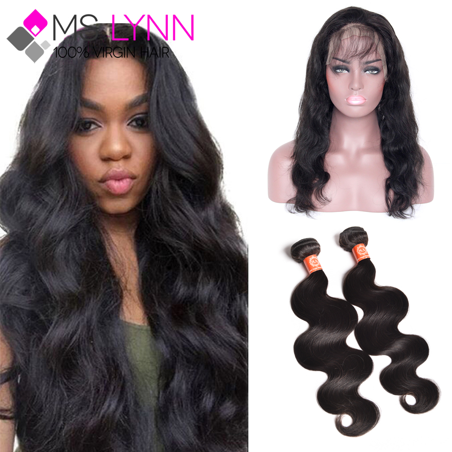 Peruvian Body Wave 360 Lace Frontal With Bundle Soft Ear To Ear Lace Frontal Closure With