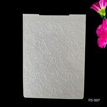 AZSG изогнутые ветви дизайн тисненая пластина для поделок бумаги Вырубные штампы Скрапбукинг пластиковая папка для тиснения Размер 10,5*14,5 см