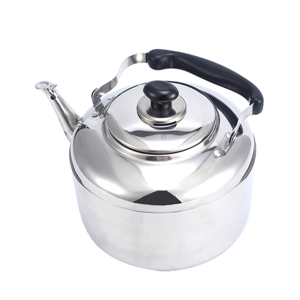 Stainless Steel Whistling Tea Kettle Coffee Kitchen Stovetop Induction 4L, 5L, 6L