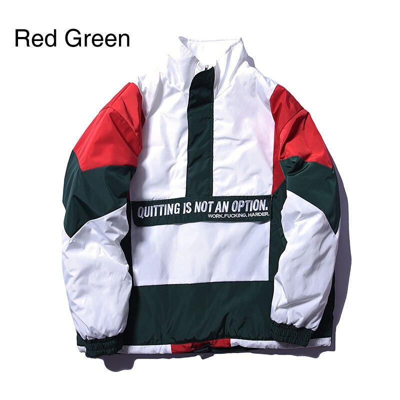 Vintage Color Block Patchwork Pullover Jackets 2