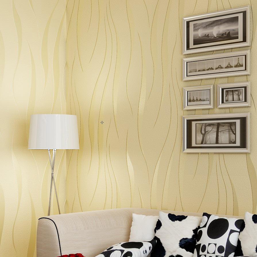 High Quality Modern Simple Non woven Flocking Wallpaper 3D ...
