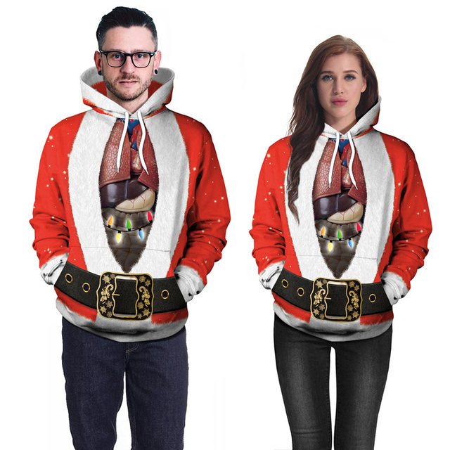 Creative Christmas Hoodies Men Women Funny Santa Claus Cosplay Male Hoodie  3D Print Cool Steetwear Sweatshirts Homme Hiphop Tops cbeb52587689