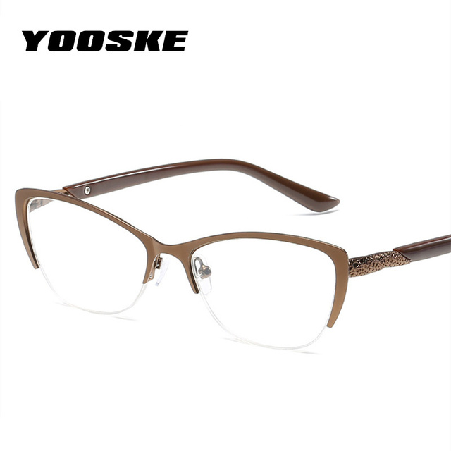 9012f05e58 YOOSKE Retro Cateyes Reading Glasses Women Anti-fatigue Cat Eye Frame Glasses  Presbyopia Prescription Eyeglasses for Reader