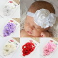 Baby Girls Flower Headbands Pearl Diamond Kids Hair Accessories 2015 New Fashion Style Hot Sell  W047