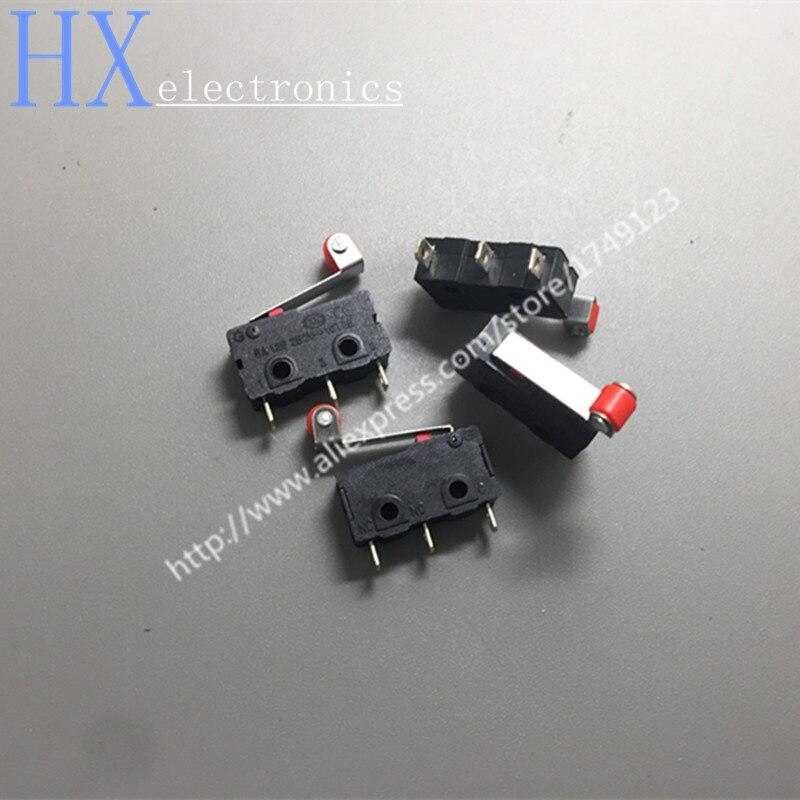 Бесплатная Доставка 10 шт. 3pin все новые концевой выключатель n/o n/c 5A250VAC kw11-3z мини Микропереключатель с шкив