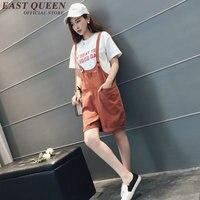 Kore moda stil rompers bayan tulum rahat gevşek tulum kadın 2017 şort kadın playsuits AA2673 YQ