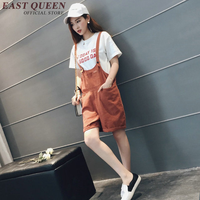 bfdab320930 Korean fashion style rompers womens jumpsuit casual loose jumpsuit women  2018 shorts playsuits for woman AA2673 YQ. Price