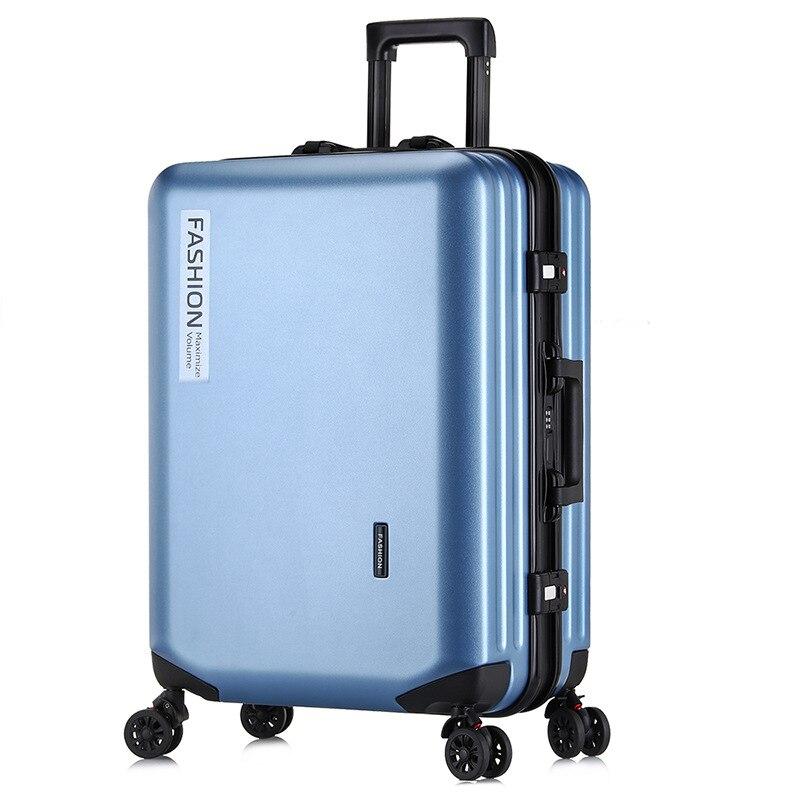 PC Trolley Case Zipper Universal Wheel Travel Luggage Fashion Business Boarding Suitcase