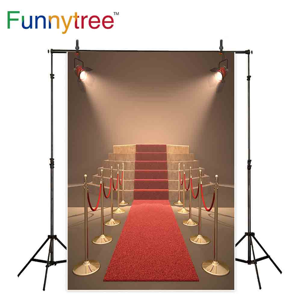 Funnytree backdrops for photography studio Red carpet stage stair celebration luxury professional background photocall prop
