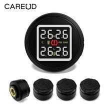 CAREUD D580 Car TPMS Tire Pressure and Temperature Monitoring System with USB Socket 4 External Sensors 2018 New Arrival