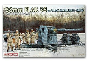 Dragon model 6260 1/35 88mm FLAK 36 w/FLAK ARTILLERY CREW realts dragon 6746 1 35 flak 43 flakpanzer iv ostwind w zimmerit