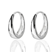 100% Real Pure 925 Sterling Silver Female Fashion Jewelry Retro Hoop Earrings for Women Lover Gifts