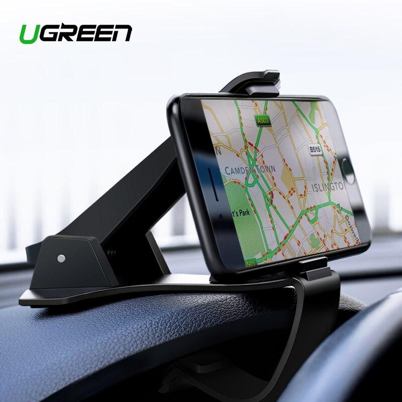 Ugreen Dashboard Car Phone Holder para o iphone X Ajustável Clipe Montar Titular Suporte Do Telefone Móvel Suporte para Samsung GPS Do Carro berço