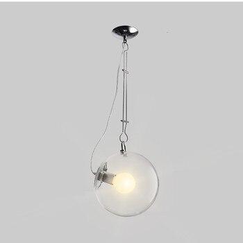 الحديثة مصباح متدلٍ الزجاج كرة فقاعات إضاءة داخلية 25 سنتيمتر/30 سنتيمتر شنقا مطعم غرفة نوم إضاءة LED للديكور تركيبات