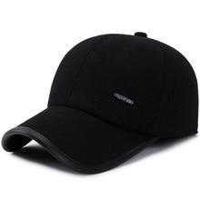 SQTEIO осенняя и зимняя теплая шерстяная бейсбольная кепка с защитой ушей для мужчин и женщин, уличная шляпа от солнца