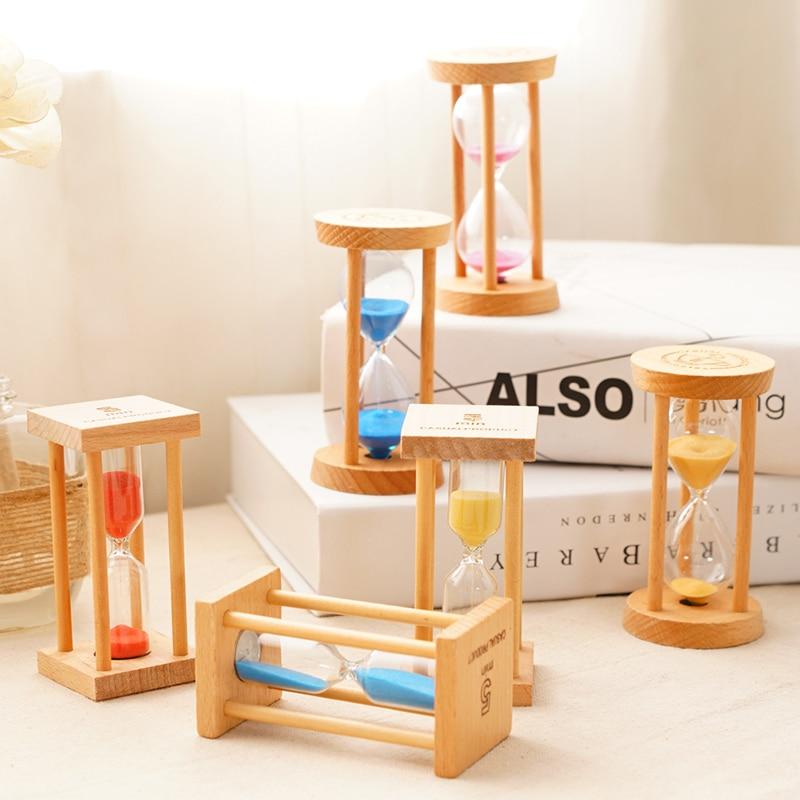 De timer/drie/vijf minuten kinderen falling kerstversiering houten borstel learning - 3