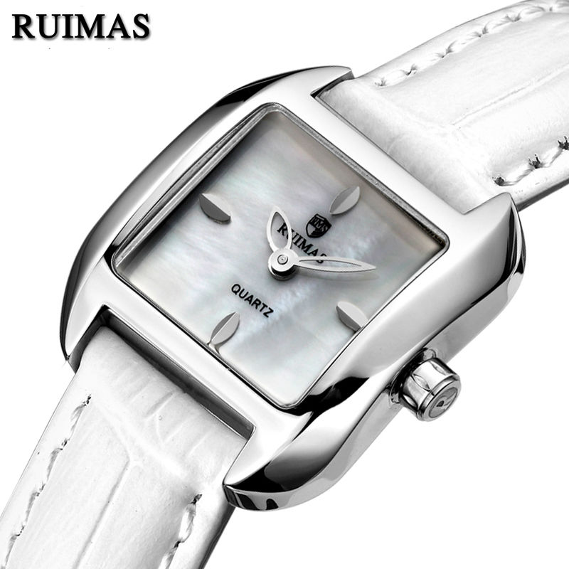 RUIMAS Luxury Women Quartz Watch Top Brand Fashion Leather Ladies Watches Clock Relogio Feminino Montre Femme Girl Wristwatch new top brand guou women watches luxury rhinestone ladies quartz watch casual fashion leather strap wristwatch relogio feminino