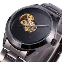 Female Clock Hollow Skeleton Mechanical Designer Luxury Stainless Steel Bracelet Wrist Women Watch Automatic Ladies Wristwatches