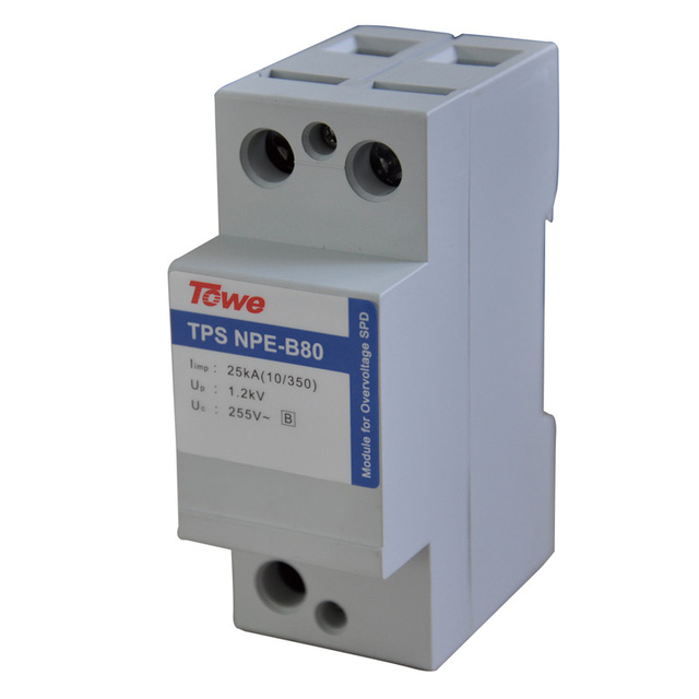TOWE AP NPE(B80)Unipolar high energy surge protector NPE Iimp:15kA (10/350),Up 1.5kV Lightning Current Arresters