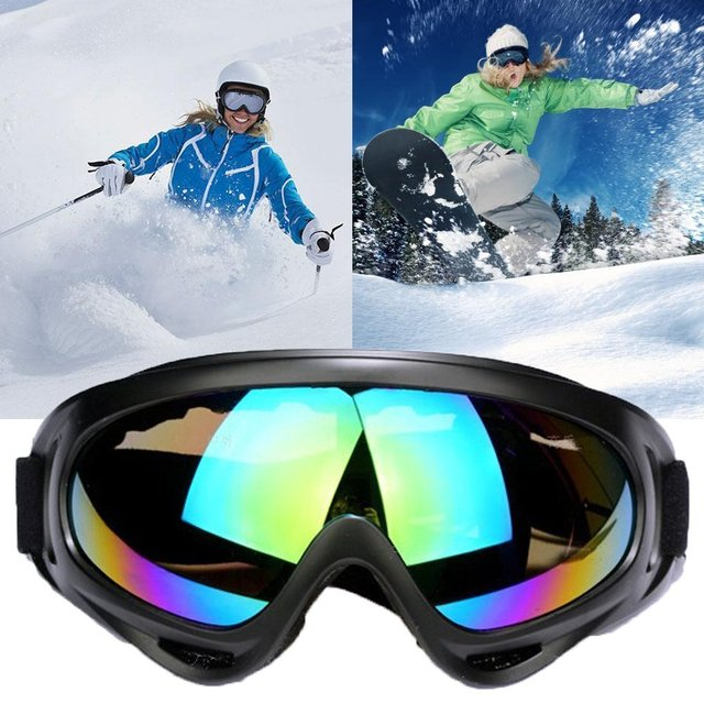 4ecf4b6d25e6 UV400 Ski Goggles Men Women Anti-fog Adult Winter Skiing Eyewear Snowboard  Snow Goggles 100% Anti-uv MTB Skate Glasses
