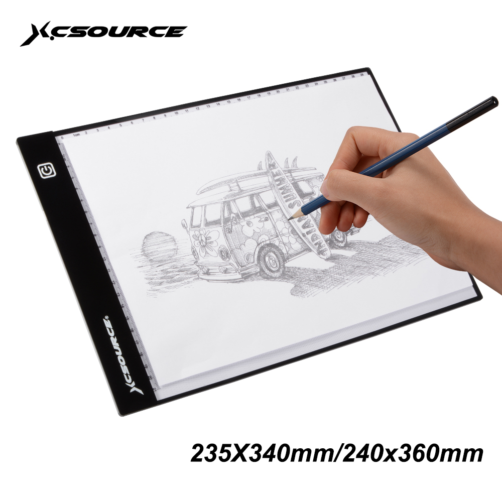 xcsource a4 led artist ultra slim drawing board tracing copy light box pad xc701 2 in digital. Black Bedroom Furniture Sets. Home Design Ideas