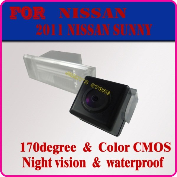 Car rear camera rearview paking camera reverse monitor rear backup camear rear viewer for Nissan 2011 Sunny night viosn