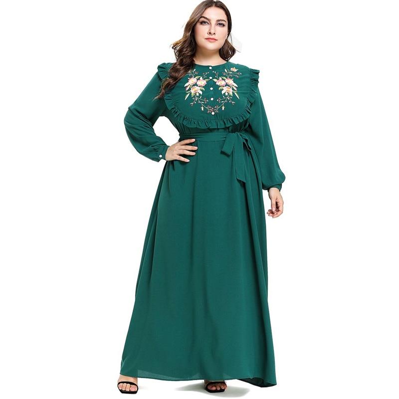 Kaftan Abaya Robe Femme Dubai Turkey Islam Muslim Hijab Dress Qatar Omani Caftan Marocain Ramadan Abayas For Women Jilbab Elbise