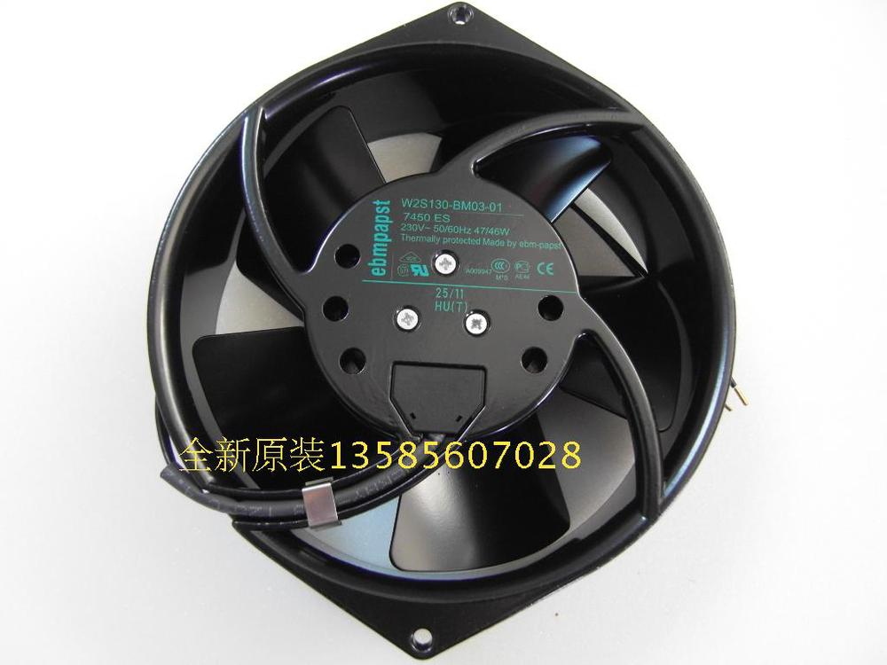 PAPST New original ebmpapst Blowers W2S130-BM03-01 7450ES temperature fan