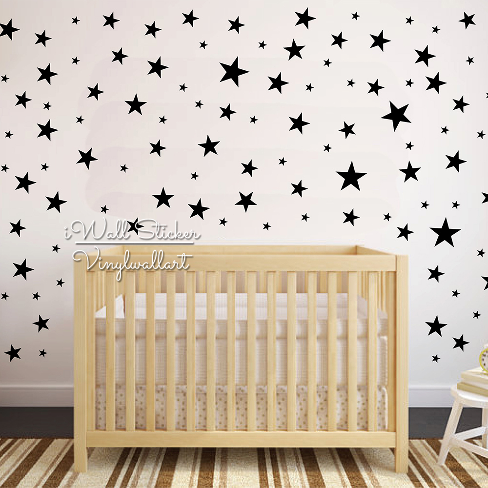 Cute Star Wall Stickers For Kids Rooms, Baby Nursery Stars Wall - Indretning af hjemmet - Foto 4