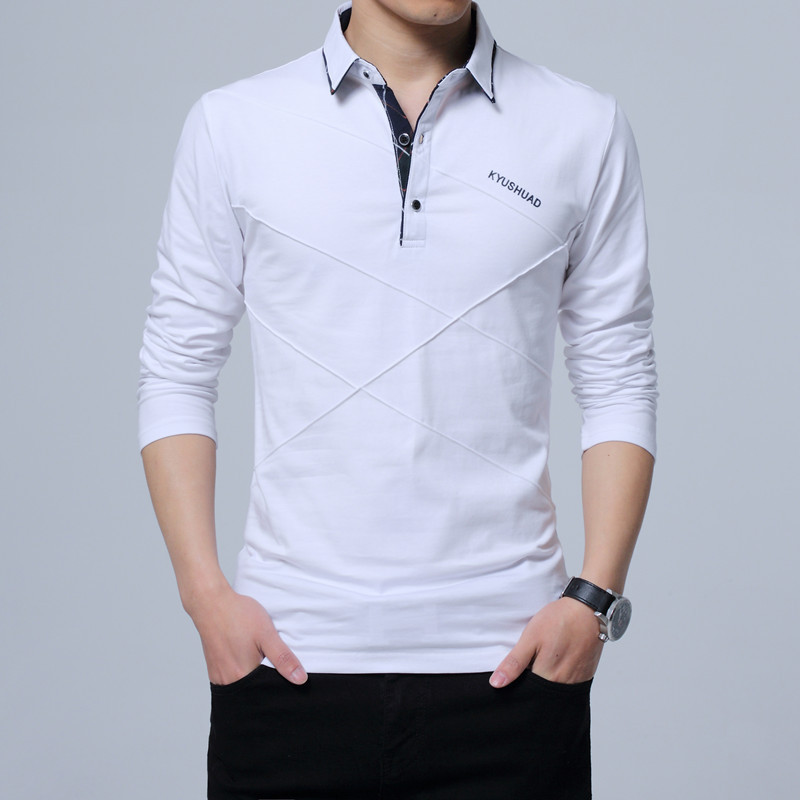 Covrlge Polo Shirt Men 2018 Spring Mens Long Sleeve Polo Shirts Plus Size 3XL 4XL 5XL