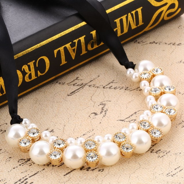 Best Cheap Fashion Simulated Pearl Necklaces For Women Collares  sister necklaces amazon