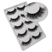 5 pairs 3D mink false eyelashes natural long 3d lashes hand made fluffy faux cils thick eye kit G603