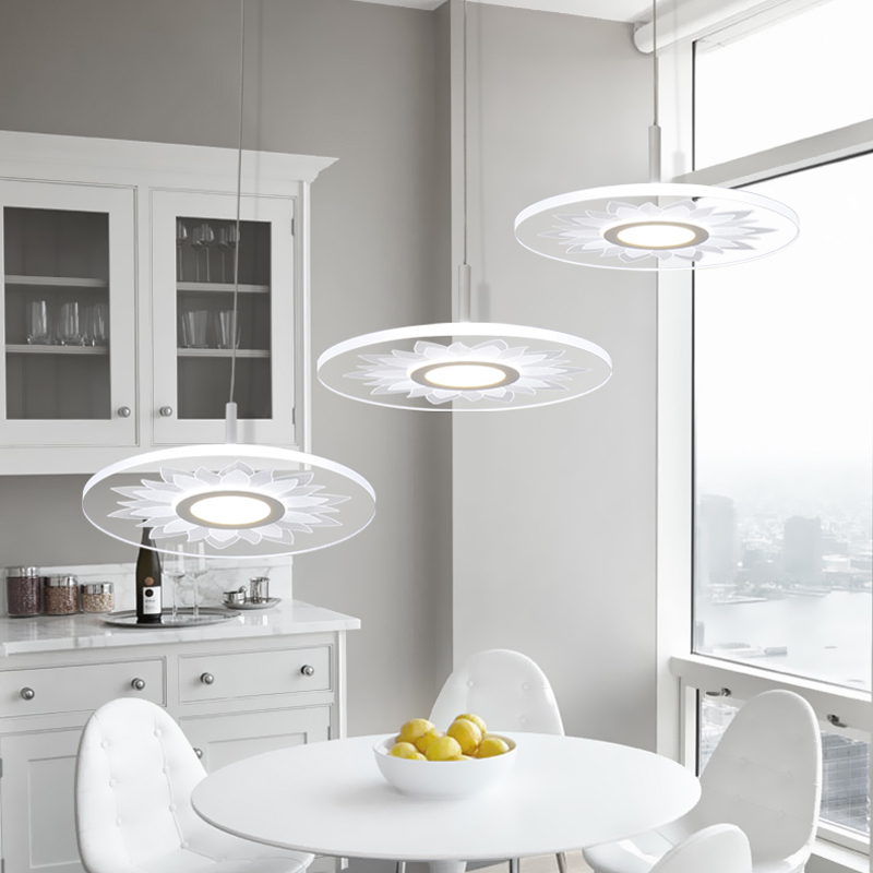 Fashion Creative Round Acrylic 30W LED Pendant Light Modern Simple Suspension Lighting Fixtures For Bar Living Dining Room PL678 fumat k9 crystal pendant light modern fashion led glass suspension light living room bedroom bar lustre crystal light fixtures