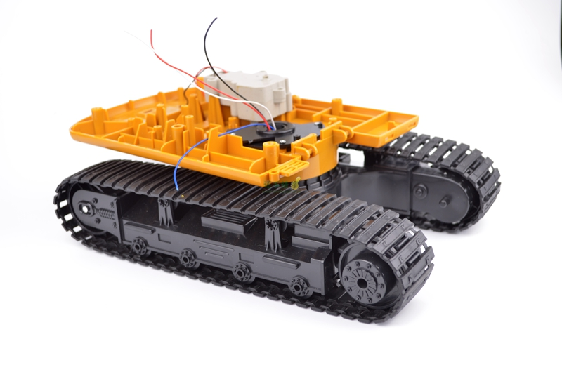 DIY 99 Rotation Plastic Tank Chassis with Rubber Crawler belt Tracked Vehicle Excavator Robot Chassis 261 tank chassis intelligent car crawler chassis crawler vehicle tank vehicle tank robot metal motor
