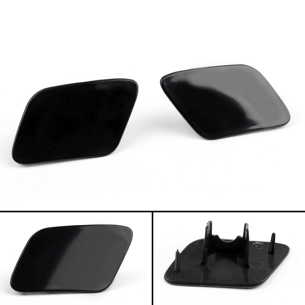 2x Front Left Right Headlight Bumper Washer Jet Cover Cap Fits Audi A6 C5 98-02