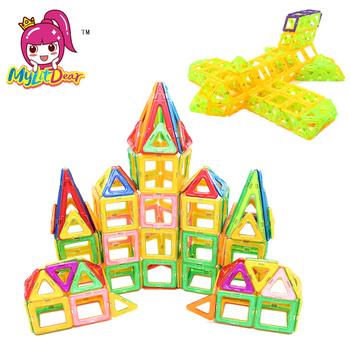 Mini rozmiar magnetyczny projektant 144 sztuka DIY klocki klocki 3D klocki dla dzieci tanie i dobre opinie 7-9Y 13-18 M 2-3Y 7-9 M 19-24 M 13-14Y 14Y 4-6Y 10-12 M 10-12Y MylitDear 48 64 86 94 112 144pcs Mini Magnetic Brick No140670